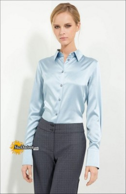 Satin-Blouse-Light-Blue