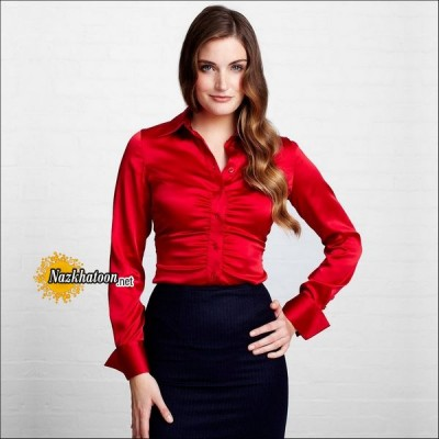 Satin-Blouse-Red