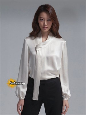 Satin-Blouse-White