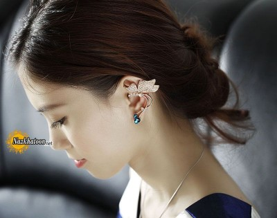 rhinestone-butterfly-ear-cuff-earrings