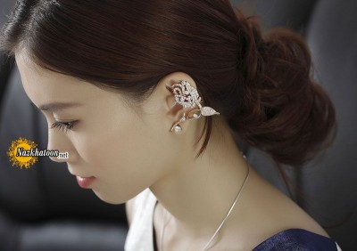 tulip-flower-ear-cuff-earring-gold