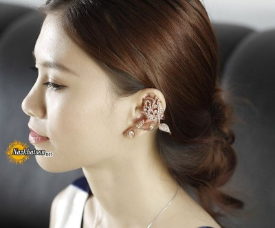 tulip-flower-ear-cuff-earring-rose-gold