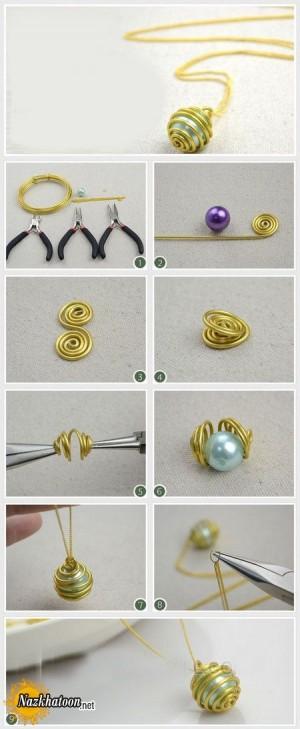 ایده جالب برای ساخت گردنبند فلزی