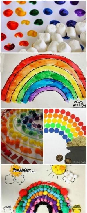 کاردستی جالب رنگین کمانی کودکانه