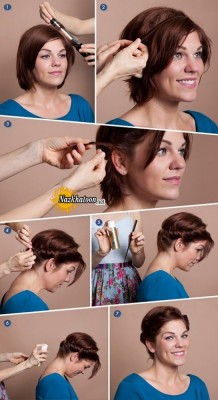 Quick+romantic+hairstyle+for+short+hair