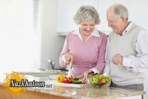تغذیه مناسب برای سالمندان