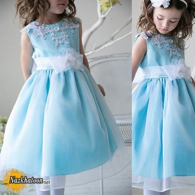 id1231g-turquoise-modish-lace-organza-girl-dress-d