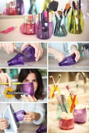 ایده جالب ساخت جا مدادی با بطری