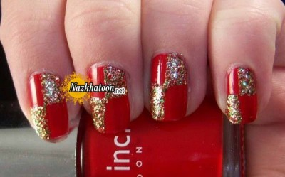3-red-golden-glitter-nail-art-design