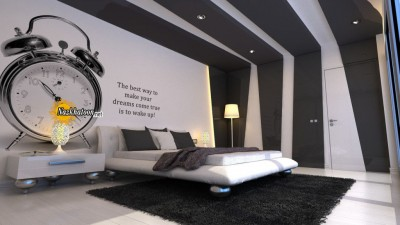 Luxury-Bedroom-Modern-Furniture-Awesome-Grey-and-White-Room-