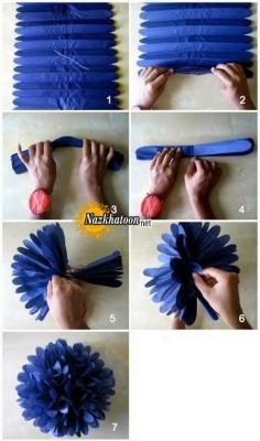 آموزش ساخت گل میخک کاغذی