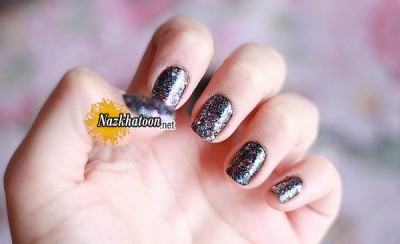 black-glitter-nail-art-design