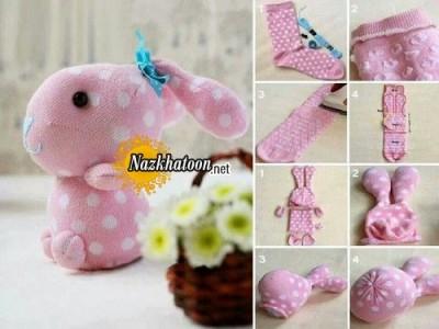 ساخت خرگوش با جوراب