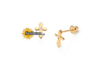 royal-cross-child-earrings-with-screw-backs-14k-gold