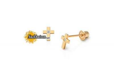tiny-cross-earrings-for-baby-14k-gold-with-screw-backs