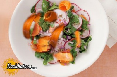 روش تهیه سالاد تربچه و هویج