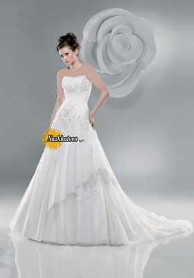 Fashionable-Strapless-Wedding-Dress-2015-Snapshot-Latest-Gallery