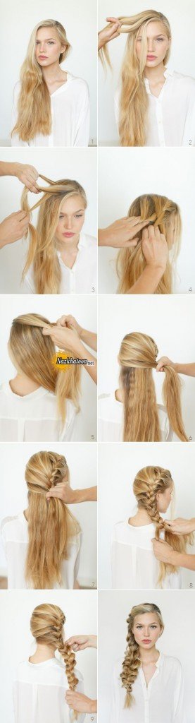 Romantic-Hairstyle-Ideas-and-Tutorials-Side-Braids