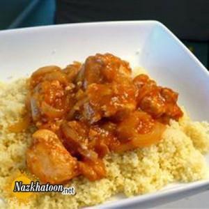 روش تهیه پوره مرغ و برنج با زردآلو