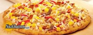 روش تهیه پیتزا مخلوط با انبه