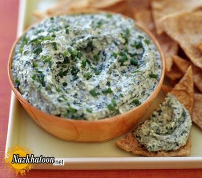 روش تهیه دیپ اسفناج پنیری