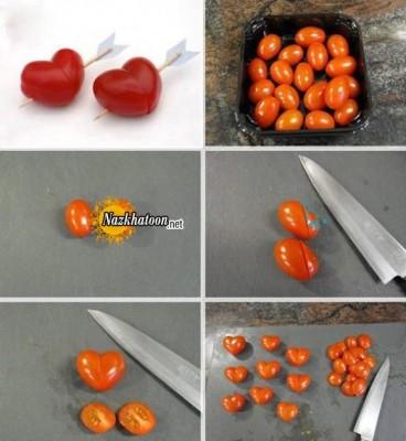 ایده درست کردن گوجه فرنگی قلبی