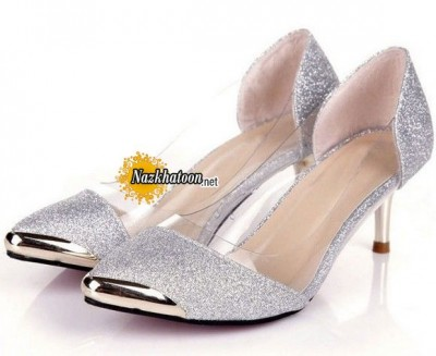 Popular-Low-Heel-Silver-Dress