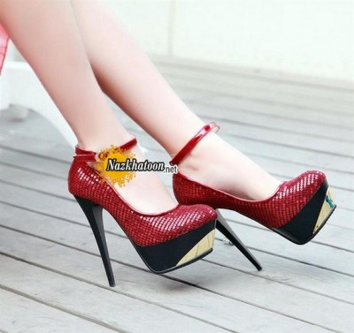 Women-Shoes-Fashion-Paillette-Ultra-High-Thin-Heels