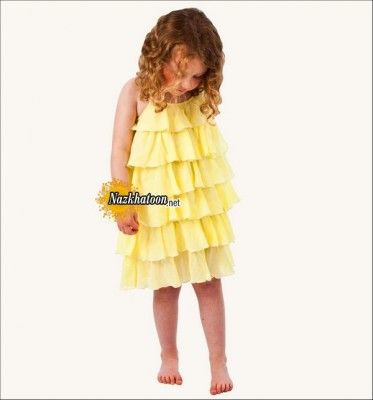 Yellow-Girls-Dresses-Knee-Length