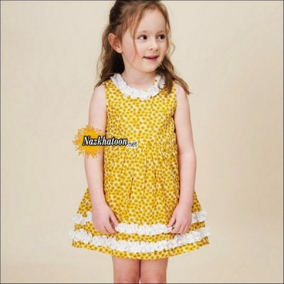 Yellow-Girls-Dresses-Printed