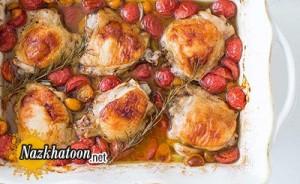 روش تهیه ران کبابی با گوجه گیلاسی