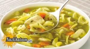 روش تهیه سوپ رشته فرنگی و مرغ