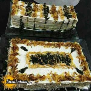 روش تهیه کیک کشک و بادمجان