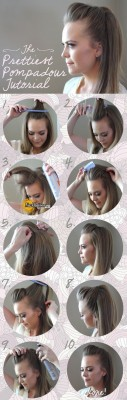 Simple-Hairstyle-For-Girls-at-Home-Without-Hairspray-Pretty-Pompadour-Tutorial