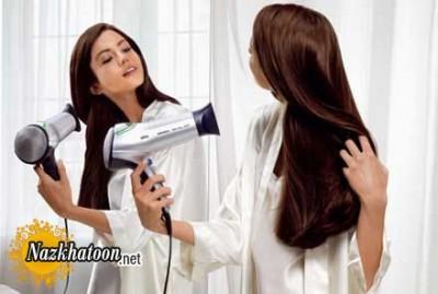 نکات هنگام سشوار کشیدن موی سر