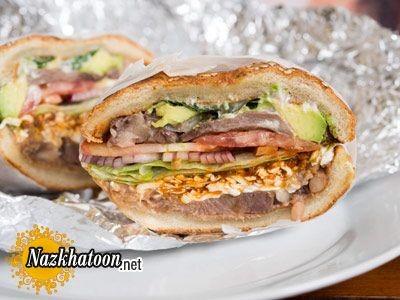 روش تهیه ساندویچ زبان مکزیکی