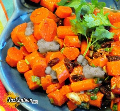 روش تهیه سالاد هویج و پنیر فتا
