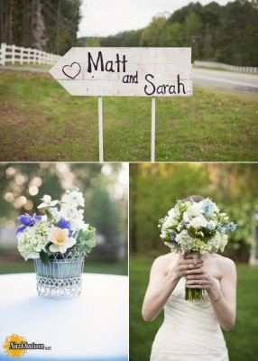 outdoor-spring-wedding-ideas-rustic-real-wedding-romantic-bridal-ouquet-custom-wedding-ceremony-sign__full