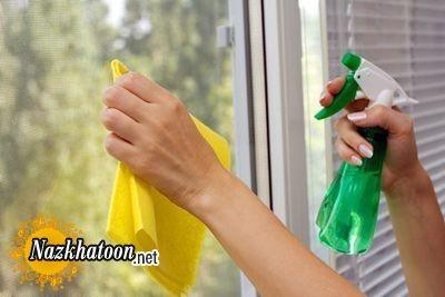 تمیز کردن شیشه های خانه