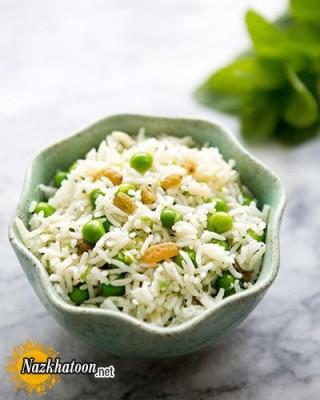 روش تهیه سالاد برنج و نخود فرنگی