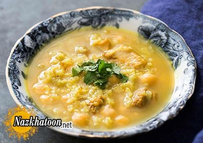 روش تهیه سوپ نخود و مرغ