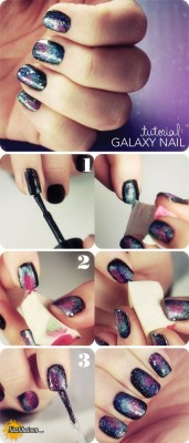 galaxy-nail-art-desgins-for-starry-night-wedding-ideas