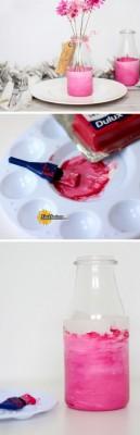 ایده جالب برای گلدان شیشه ای
