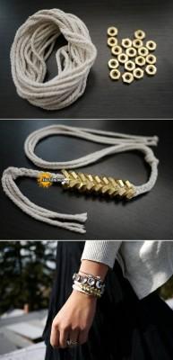 ایده ساده درست کردن دستبند شیک