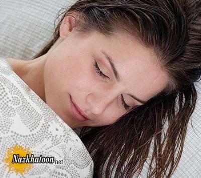 خوابیدن با موی خیس ممنوع
