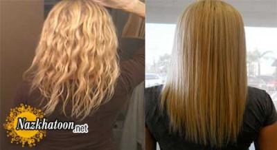 صاف کردن موهای فر با روشی طبیعی