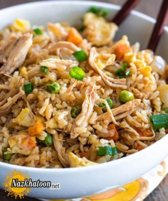 روش تهیه مرغ سرخ شده با برنج