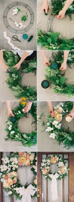 wonderful-spring-wedding-decoration-ideas-DIY-wedding-wreath