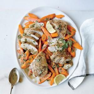 خوراک مرغ و سبزیجات رژیمی