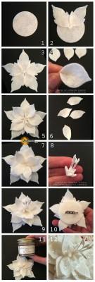 درست کردن گل نمدی زیبا
